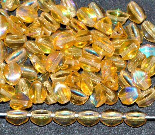 Best.Nr.:57666 Glasperlen Pinchbeads  topas mit AB,  hergestellt in Gablonz / Tschechien