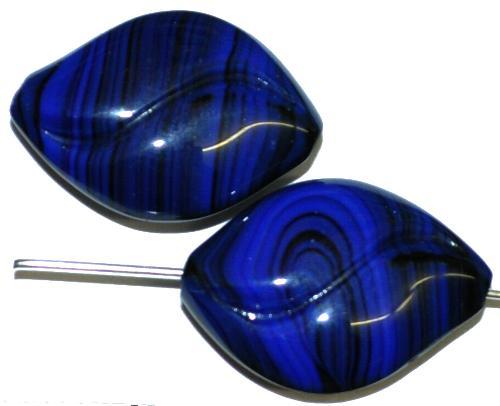 Best.Nr.:57682 Glasperlen  nachtblau opak,  hergestellt in Gablonz / Tschechien