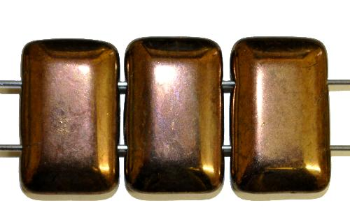 Best.Nr.:58006 Glasperlen mit zwei Löchern,  bronze,  hergestellt in Gablonz / Tschechien