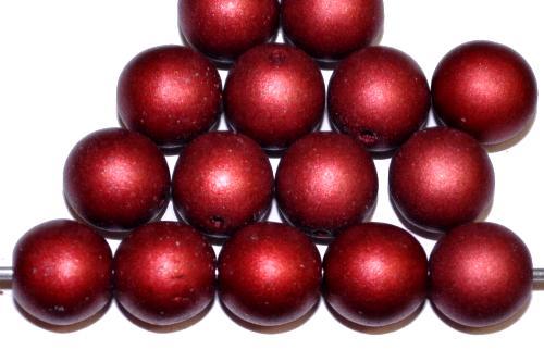 Best.Nr.:58008 Glasperlen / Wachsperlen rund mit Wachsüberzg rot mattiert, hergestellt in Gablonz / Tschechien