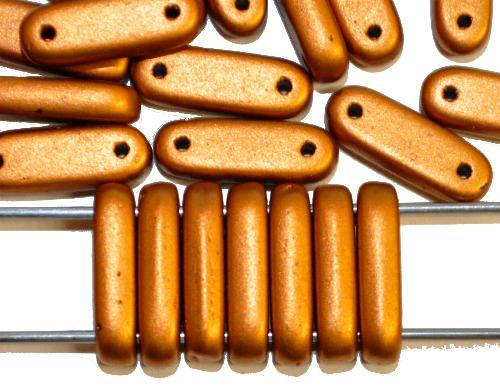 Best.Nr.:58030 Glasperlen mit zwei Löchern,  Twin Hole Beads metallic,  hergestellt in Gablonz / Tschechien