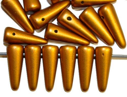 Best.Nr.:58032  Glasperlen Kegelform,  metallic,  hergestellt in Gablonz / Tschechien