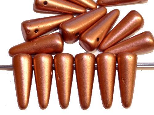 Best.Nr.:58046  Glasperlen Kegelform,  metallic,  hergestellt in Gablonz / Tschechien