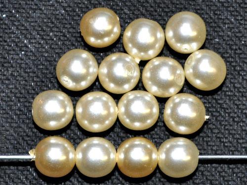 Best.Nr.:58104  Glasperlen rund mit Wachsüberzug,  perlmuttglanz,  hergestellt in Gablonz / Tschechien