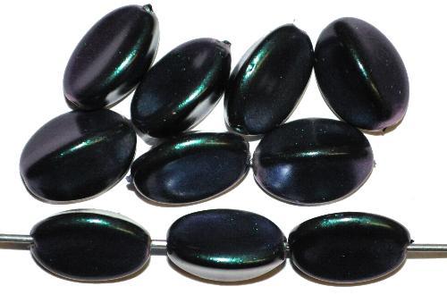 Best.Nr.:58108  Glasperlen mit Wachsüberzug,  blaugrüner metallic schimmer,  hergestellt in Gablonz / Tschechien