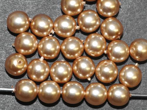 Best.Nr.:58127 Glasperlen rund mit Wachsüberzug,  perlmuttglanz,  hergestellt in Gablonz / Tschechien