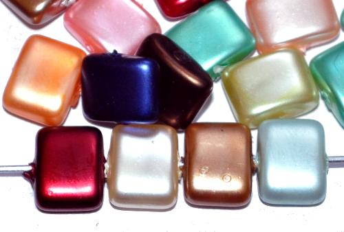 Best.Nr.:58139 Glasperlen mit Wachsüberzug, Farbmix, hergestellt um 1970 in Gablonz / Tschechien
