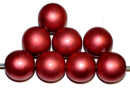 Best.Nr.:58148 Glasperlen / Wachsperlen rund mit Wachsüberzg rot mattiert, hergestellt in Gablonz / Tschechien