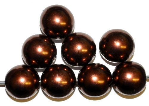Best.Nr.:58150 Glasperlen/Wachsperlen rund mit Wachsüberzug, hergestellt in Gablonz / Tschechien