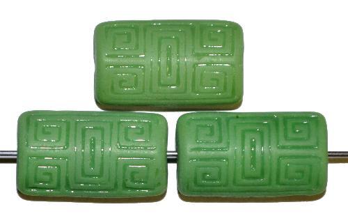 Best.Nr.:59014 Vintagestyle Glasperlen  grün opak mit eingeprägtem