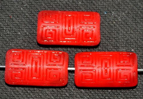 Best.Nr.:59041  Vintagestyle Glasperlen  rot mit eingeprägtem