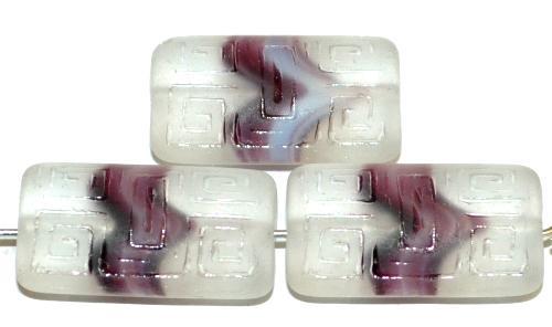 Best.Nr.:59071 Vintagestyle Glasperlen  violett kristall transp. mattiert mit eingeprägtem