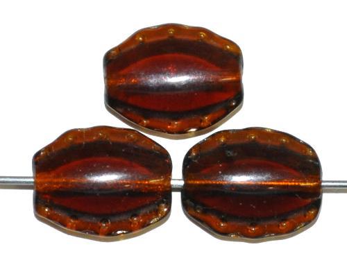 Best.Nr.:59150 Vintage style Glasperlen, topas transp. nach alten Vorlagen aus den 1930/40Jahren in Gablonz / Tschechien neu gefertigt