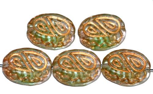 Best.Nr.:59151 Antik style Glasperlen,  nach alten Vorlagen  aus den 1920 Jahren neu gefertigt,  mit gold finish