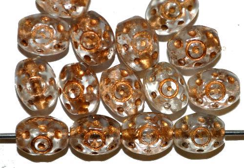 Best.Nr.:59170 Glasperlen häufig für Rosenkränze verwendet,  kristall mit Goldauflage,  in den 1950/60 Jahren in Gablonz/Böhmen hergestellt