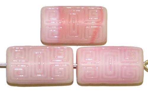 Best.Nr.:59254 Vintagestyle Glasperlen  rosa mattiert mit eingeprägtem