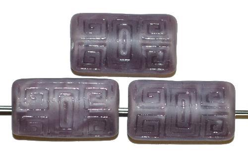 Best.Nr.:59256 Vintagestyle Glasperlen  violett Perlettglas mit eingeprägtem