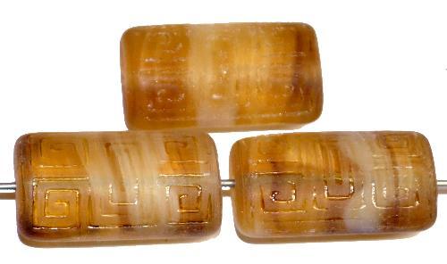 Best.Nr.:59260 Vintagestyle Glasperlen  topas mit eingeprägtem