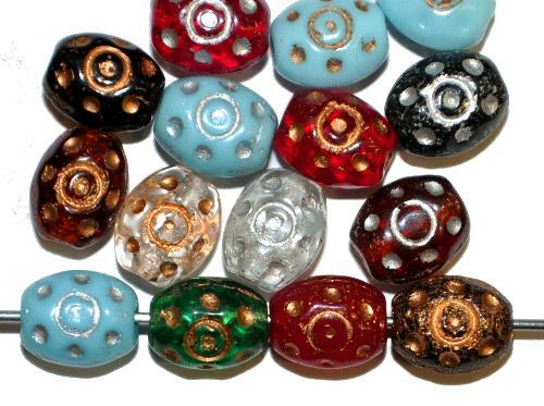 Best.Nr.:59281  Glasperlen häufig für Rosenkränze verwendet,  Farbmix,  in den 1950/60 Jahren in Gablonz/Böhmen hergestellt