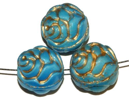 Best.Nr.:59283 vintage style Glasperlen ,Rosenblüte , nach alten Vorlagen aus den 1920 Jahren in Gablonz/Böhmen neu gefertigt