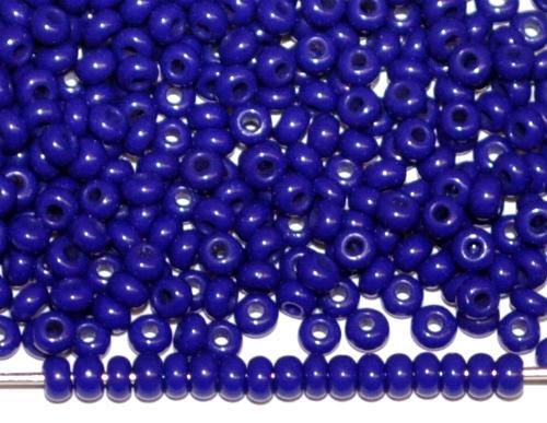 Best.Nr.:61155/100  Rocailles dunkelblau opak, um 1920 in Gablonz/Böhmen hergestellt