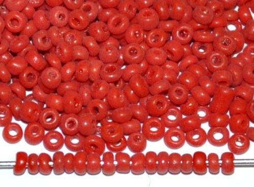 Best.Nr.:61159/100  Rocailles rot opak, um 1920 in  Gablonz/Böhmen hergestellt
