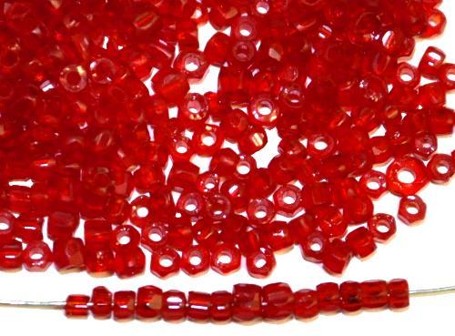 Best.Nr.: 62114 3-Cutbeads  ca.1930/40 in Gablonz/Böhmen hergestellt,  rot transp.