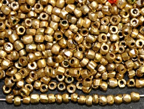 Best.Nr.:62126 3-Cutbeads  in den1920/30 Jahren in Gablonz/Böhmen hergestellt,  metallic finish,