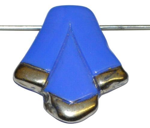Best.Nr.:63049 Glasperle in der Zeit von 1920 bis 1930 in Gablonz/Böhmen hergestellt, mittelblau opak, (nur einmal auf Lager)