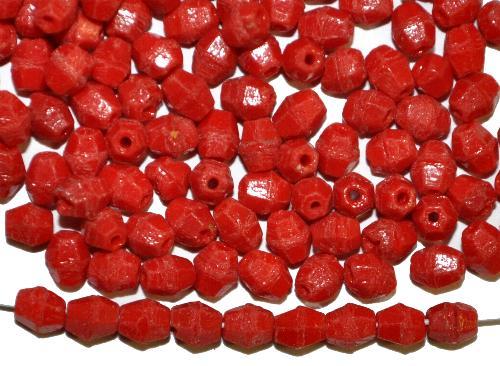 Best.Nr.:63078 Glasperlen bicon,  rot opak,  in der Zeit von 1900 bis 1930 in Gablonz/Böhmen  hergestellt, (nur wenige auf Lager)
