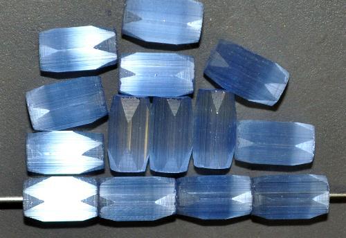 Best.Nr.:63146 geschliffene Glasperlen, satin Glas blau, um 1940/50 in Gablonz/Böhmen hergestellt