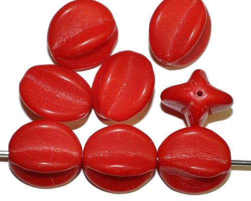 Best.Nr.:63206 Glasperlen,  rot opak,  in den 1920 bis 1950 Jahren in Gablonz/Böhmen hergestellt
