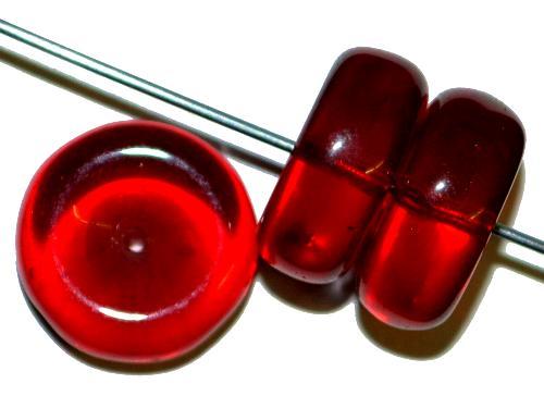 Best.Nr.:63392 Glasperlen,  in den 1920/30 Jahren in Gablonz/Böhmen hergestellt,  rot transparent