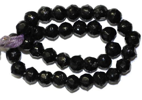 Best.Nr.:63470  Glasperlen schwarz, in den 1920 bis 40 Jahren in Gablonz/Böhmen hergestellt,  (nur einmal auf Lager)