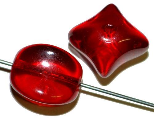 Best.Nr.:63575 Glasperlen,  1950/60 in Gablonz/Böhmen hergestellt,  rot transparent