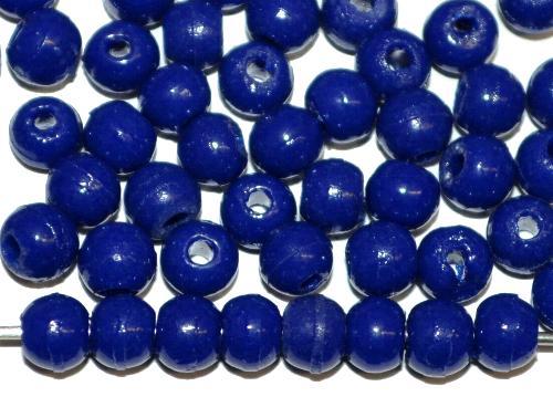 Best.Nr.:63618  Glasperlen rund (Prosserbeads)  dunkelblau opak, in den 1920/30 Jahren in Gablonz/Böhmen  hergestellt