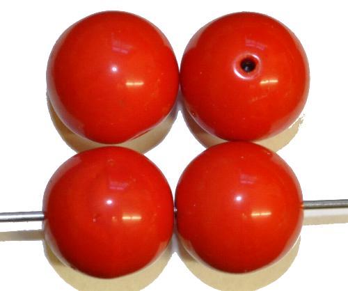 Best.Nr.:63653 Glasperlen rund,  in den 1920/30 Jahren in Gablonz/Böhmen hergestellt,  rot opak