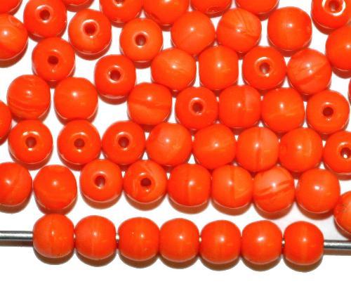 Best.Nr.:63715 Glasperlen in den 1940/50 Jahren in Gablonz/Böhmen hergestellt,  rund orange