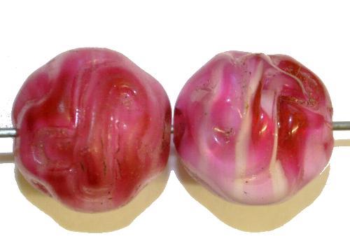 Best.Nr.:63724 Glasperlen in den 1910/20 Jahren in Gablonz/Böhmen hergestellt,  rosa,
