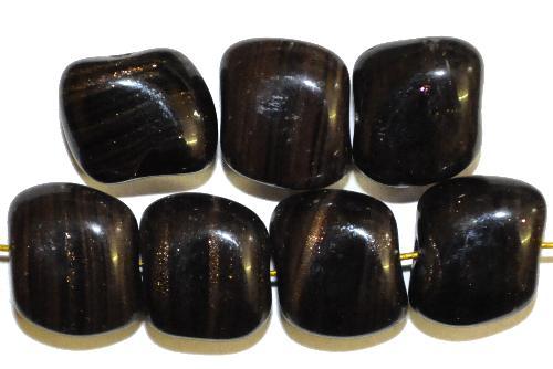 Best.Nr.:63730 Glasperlen in den 1940/50 Jahren in Gablonz/Böhmen hergestellt,  schwarz mit Aventurin (Goldstone)  (nur wenige auf Lager)