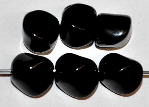Best.Nr.:63732  Glasperlen,  schwarz opak,  in der Zeit von 1920 bis 1950 in Gablonz/Böhmen  hergestellt, (nur wenige auf Lager)