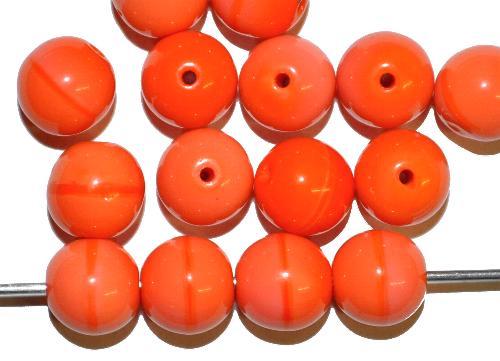 Best.Nr.:63738  Glasperlen in den 1940/50 Jahren in Gablonz/Böhmen hergestellt,  rund orange