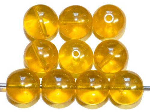 Best.Nr.:63785 Glasperlen in den 1930/40 Jahren in Gablonz/Böhmen hergestellt,  gelb transp. mit lüster