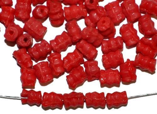 Best.Nr.:63798 Glasperlen in den 1910/20 Jahren in Gablonz/Böhmen hergestellt,  rot opak