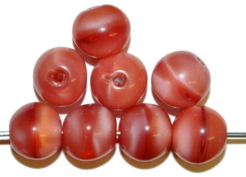 Best.Nr.:63802 Glasperlen rund  in den 1920/30 Jahren in Gablonz/Böhmen hergestellt  rosa Perlett