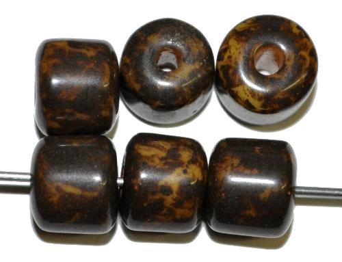 Best.Nr.:63826 Glasperlen 1930/40 in Gablonz/Böhmen hergestellt,  mit picasso finish,  (nur wenigel auf Lager)