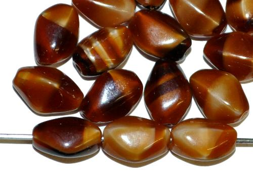 Best.Nr.:63835 Glasperlen in den 1940/50 Jahren in Gablonz/Böhmen hergestellt  tigerauge