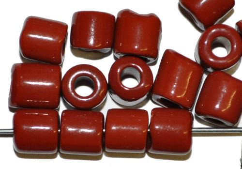 Best.Nr.:63854 Glasperlen ( tilt-beads ) in den 1920/30 Jahren in Gablonz/Böhmen hergestellt,  braun opak