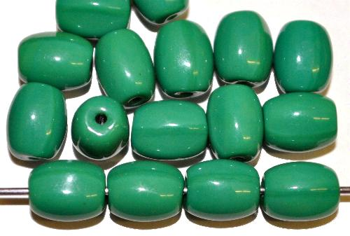 Best.Nr.:63855  Glasperlen Oliven  russischgrün opak,  in den 1920/30 Jahren in Gablonz/Böhmen hergestellt