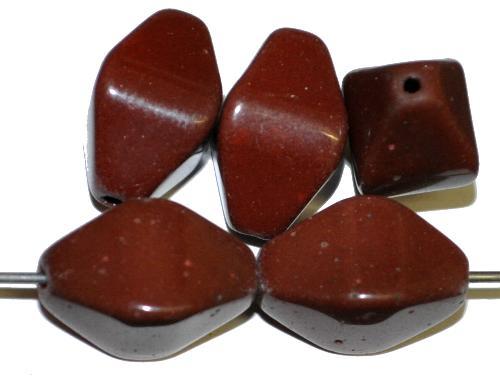 Best.Nr.:63864 Glasperlen Doppelpyramide,  braun opak, 1920/30 in Gablonz/Böhmen hergestellt,